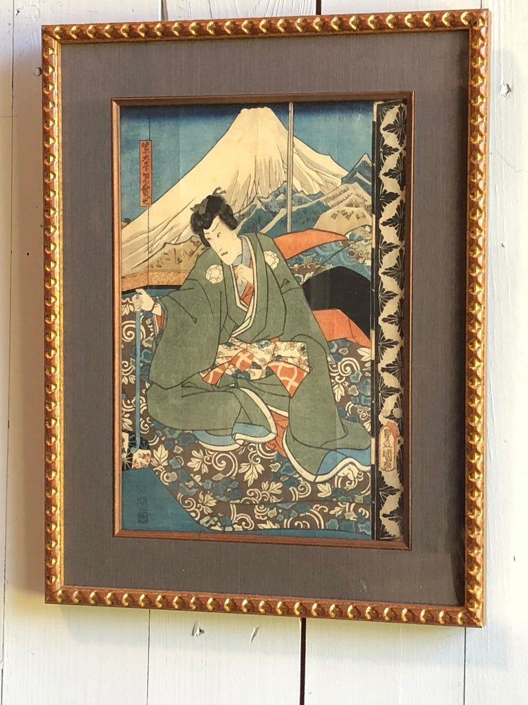 Collection of Japanese Wood-Block Prints, 19th Century For Sale 10