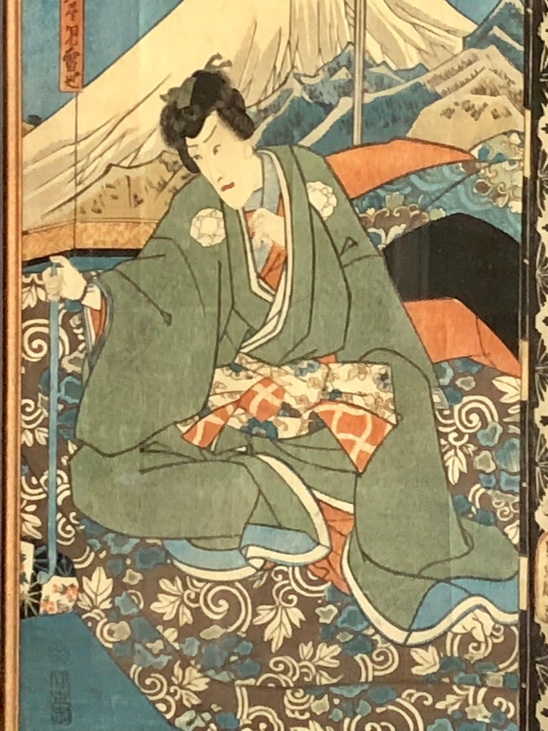 Collection of Japanese Wood-Block Prints, 19th Century For Sale 11