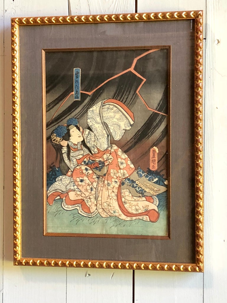 Collection of Japanese Wood-Block Prints, 19th Century For Sale 12