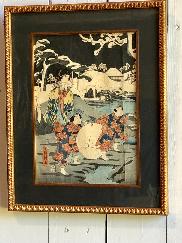 Collection of Japanese Wood-Block Prints, 19th Century For Sale 14