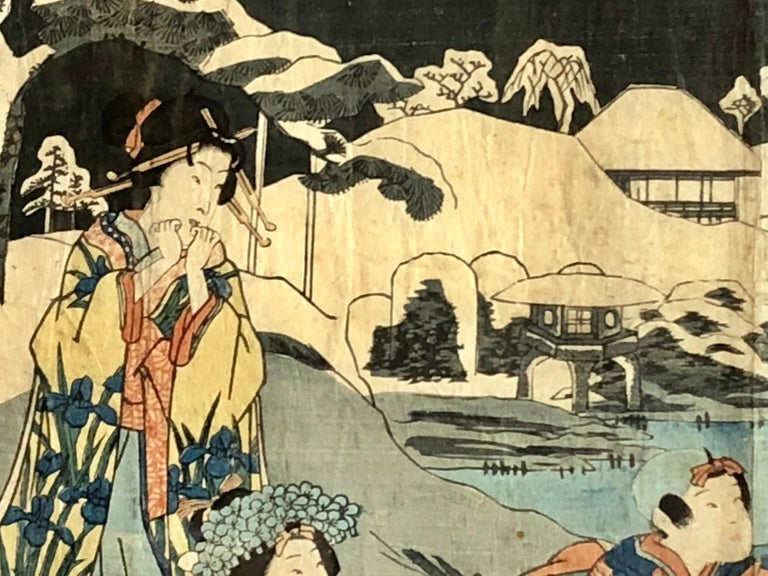 Collection of Japanese Wood-Block Prints, 19th Century For Sale 15