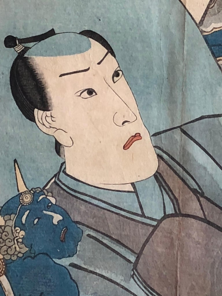 Collection of Japanese Wood-Block Prints, 19th Century For Sale 3