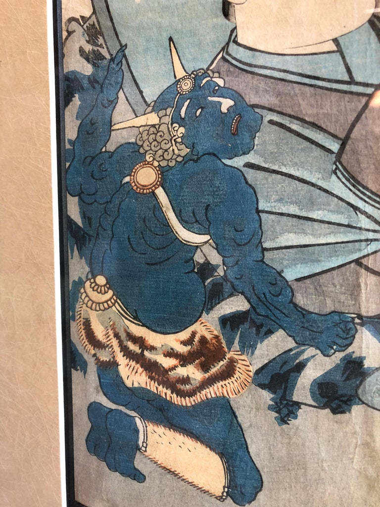 Collection of Japanese Wood-Block Prints, 19th Century For Sale 4