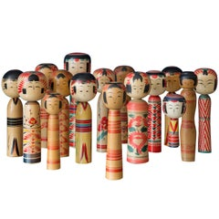 Collection of Japanse Kokeshi Dolls