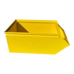 Collection Of Large Industrial Powder-Coated Sunshine Yellow Metal Bin Boxes