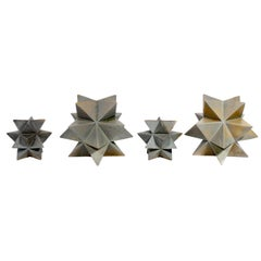 Collection of Large Scale Geometric Ceramic Sculptures