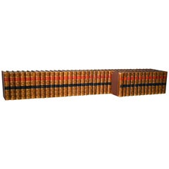 Collection of Leather Bound 19th C. Harper's 'New Monthly Magazine', Series 125