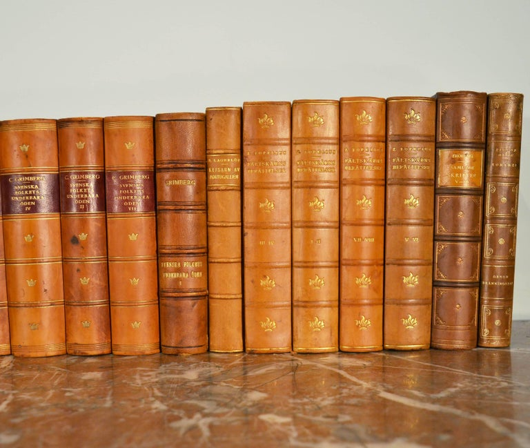 20th Century Collection of Leather Bound Books, Series 109 For Sale