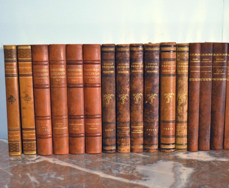 20th Century Collection of Leather Bound Books, Series 110 For Sale