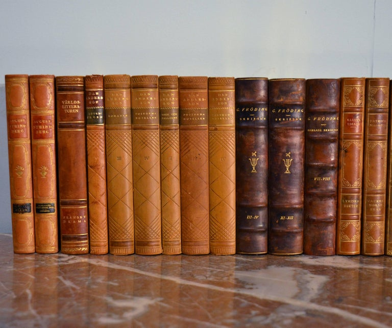 20th Century Collection of Leather Bound Books, Series 111 For Sale