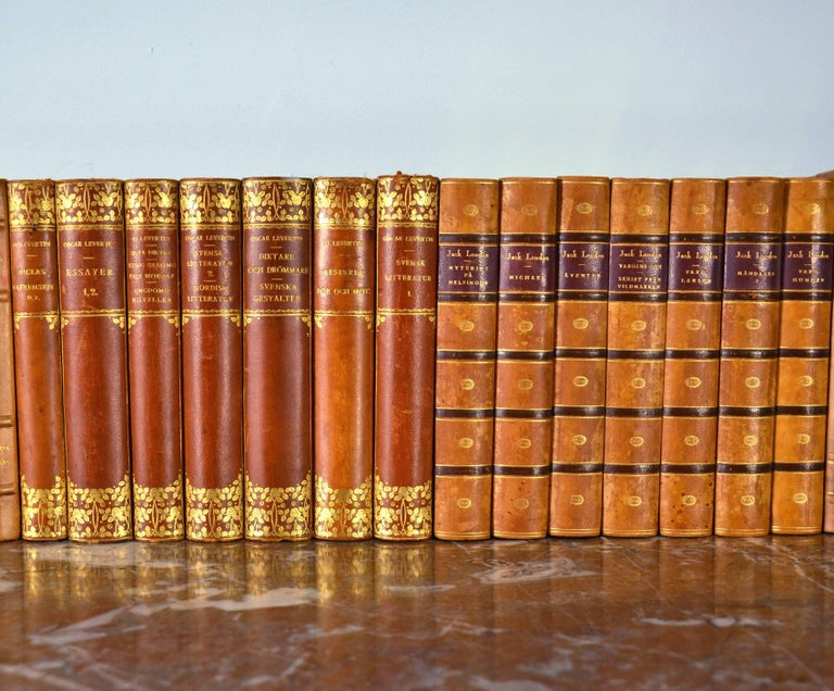 20th Century Collection of Leather Bound Books, Series 117 For Sale