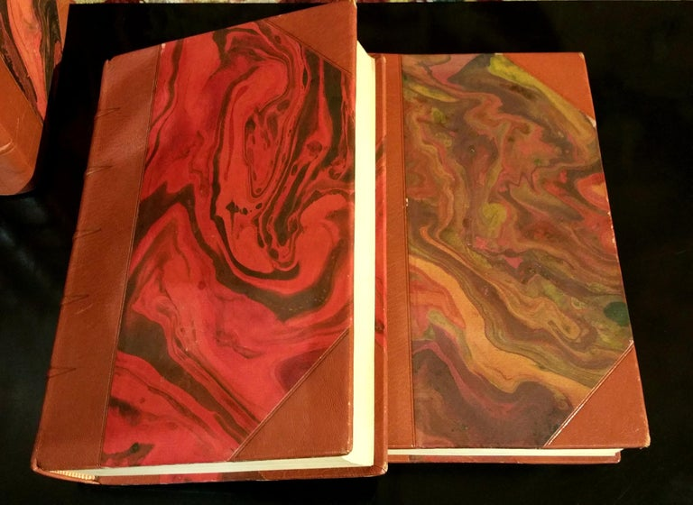Swedish Collection of Leather Bound Books Series 131 For Sale
