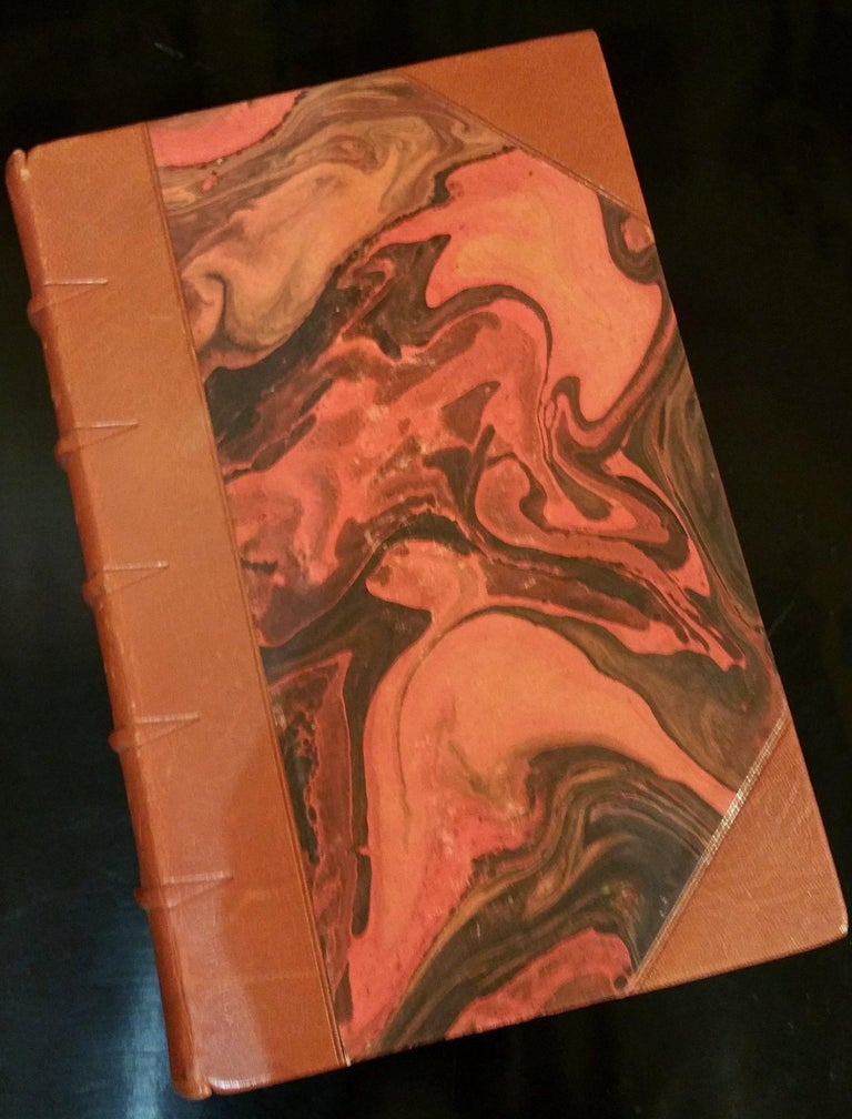 Embossed Collection of Leather Bound Books Series 131 For Sale