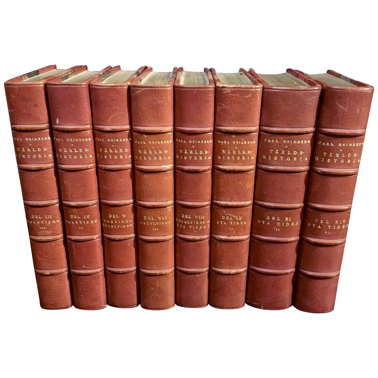 Collection of Leather Bound Books Series 131 For Sale