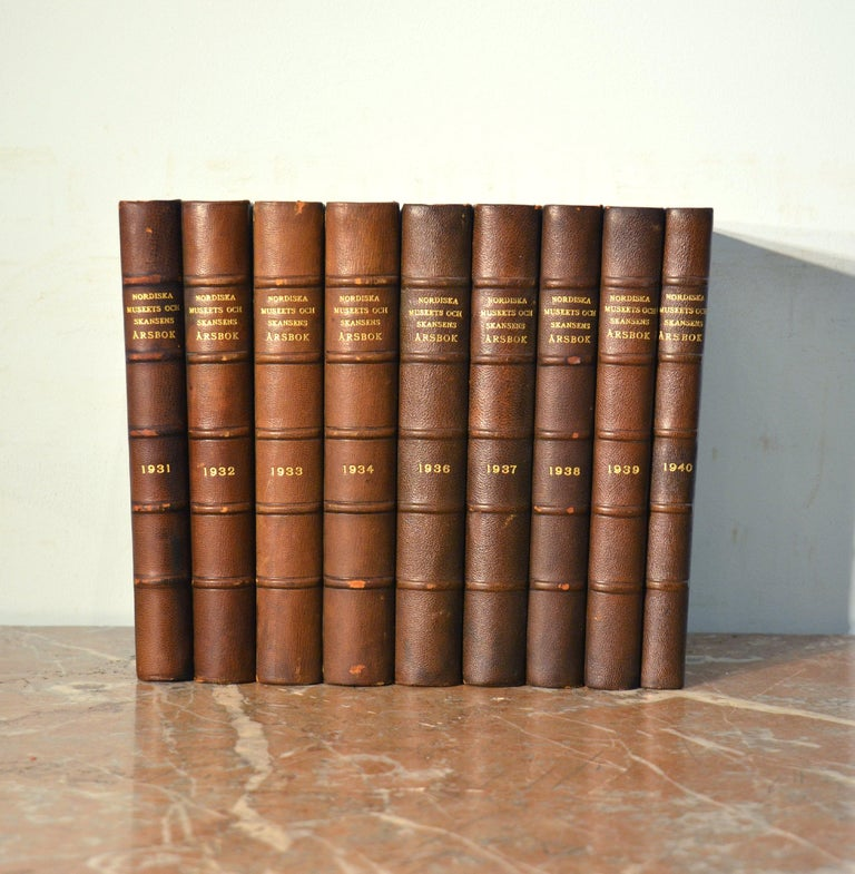 Collection of Leather Bound Books Series 132 For Sale 1