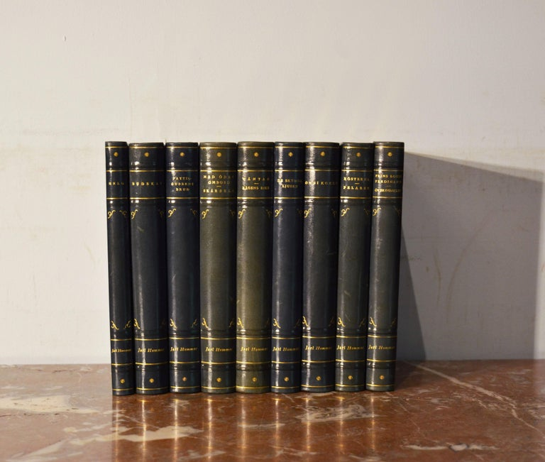 Collection of Leather Bound Books, Series 133 For Sale 1