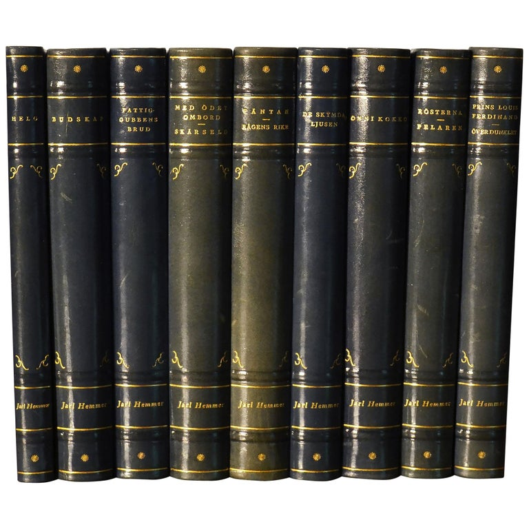 Collection of Leather Bound Books, Series 133 For Sale