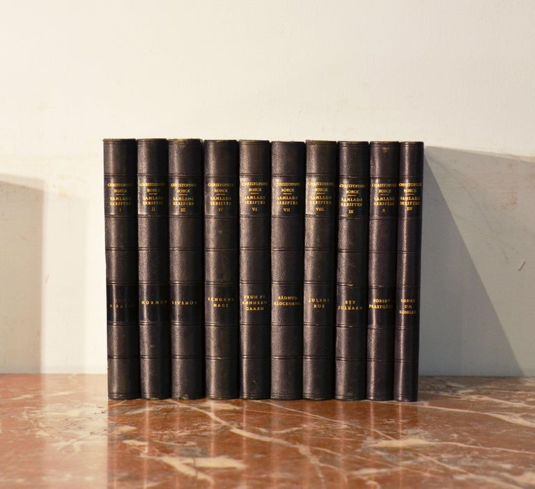 Collection of Leather Bound Books, Series 134 For Sale 2