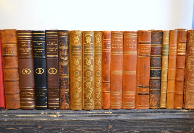 Embossed Collection of Leather Bound Books, Series 207 For Sale