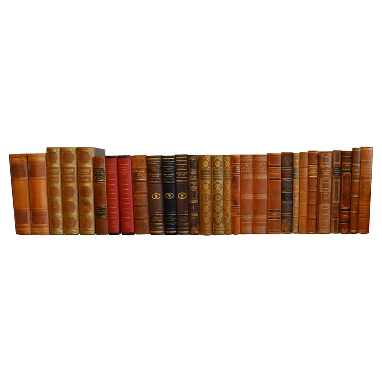 Collection of Leather Bound Books, Series 207 For Sale