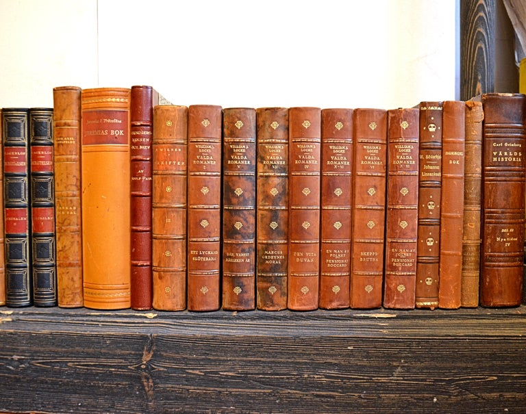 20th Century Collection of Leather Bound Books, Series 208 For Sale