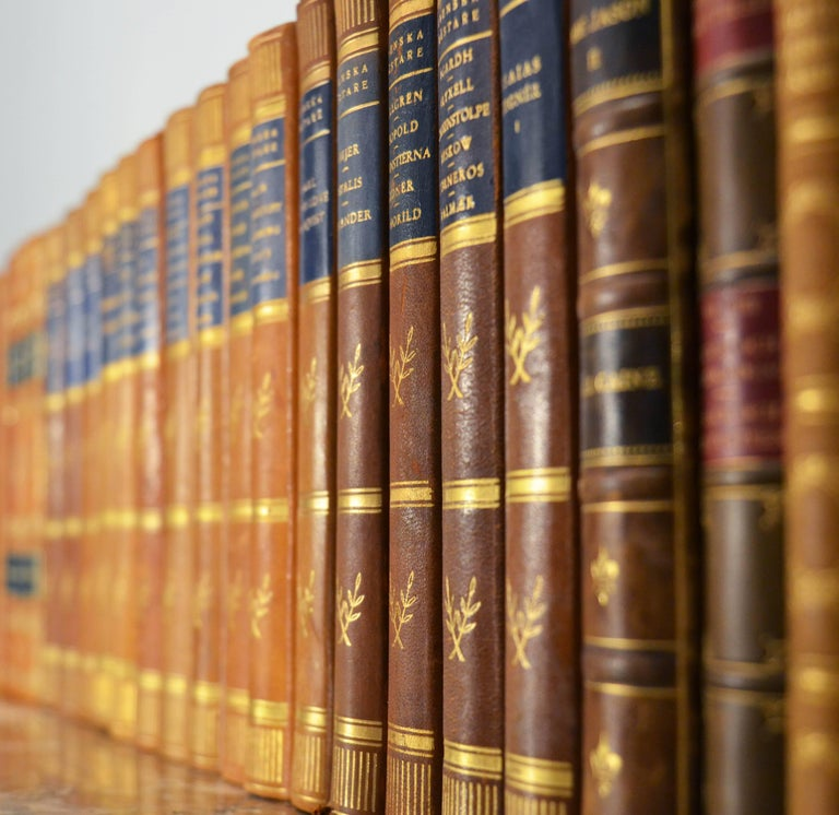 20th Century Collection of Leather Bound Books, Series 107 For Sale