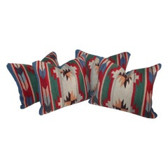 Collection of Mexican or American Indian Weaving Pillows, Two Pairs