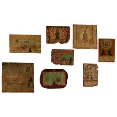 "Collection of Mexican Prayer Plaques ""Retablos Ex-Votos"" from 1950s and 1960s"