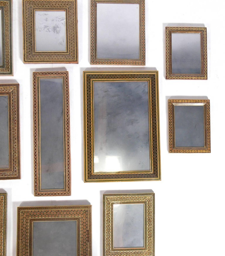 Collection of Moroccan Mosaic Framed Mirrors In Good Condition For Sale In Atlanta, GA