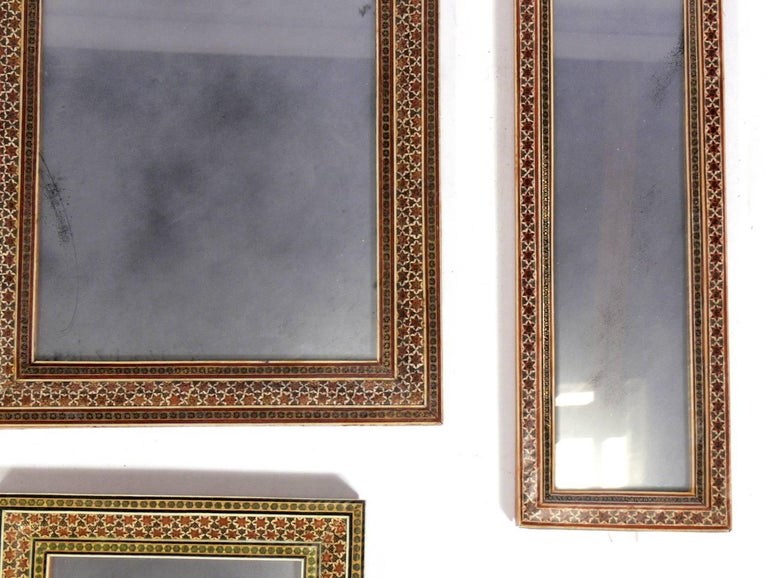 Collection of Moroccan Mosaic Framed Mirrors For Sale 1