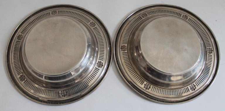 Collection of Nine Silver Sterling Serving Dishes and Bowls For Sale 4