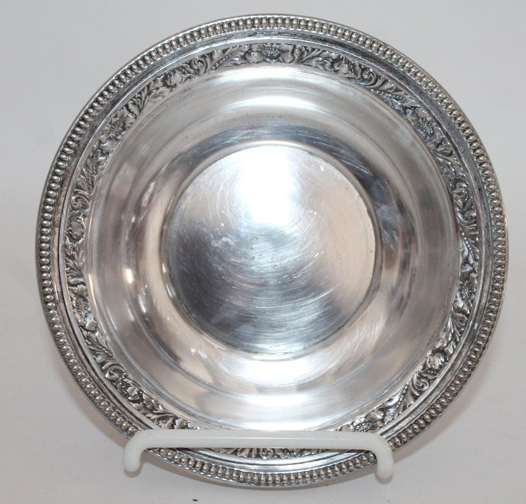 Collection of Nine Silver Sterling Serving Dishes and Bowls For Sale 6