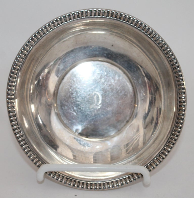 Collection of Nine Silver Sterling Serving Dishes and Bowls For Sale 7