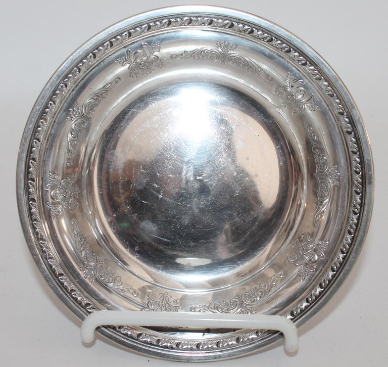 Collection of Nine Silver Sterling Serving Dishes and Bowls For Sale 10