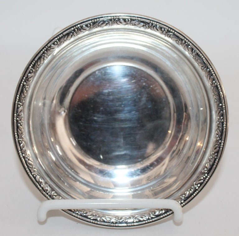 Collection of Nine Silver Sterling Serving Dishes and Bowls For Sale 11