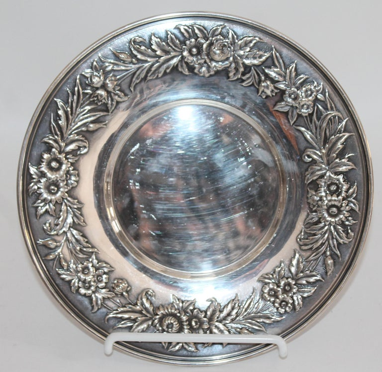 Modern Collection of Nine Silver Sterling Serving Dishes and Bowls For Sale