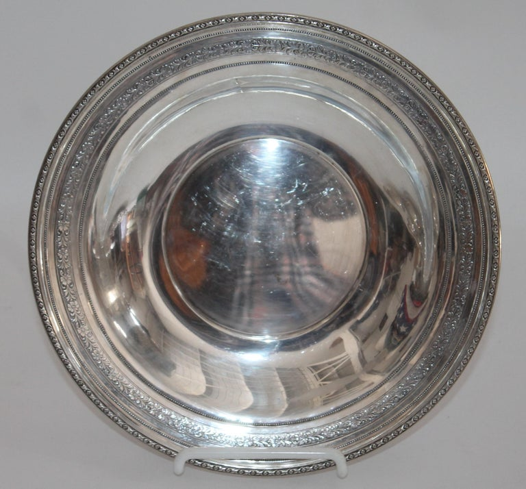 19th Century Collection of Nine Silver Sterling Serving Dishes and Bowls For Sale