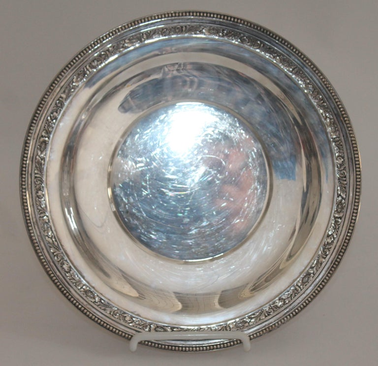 Collection of Nine Silver Sterling Serving Dishes and Bowls For Sale 1