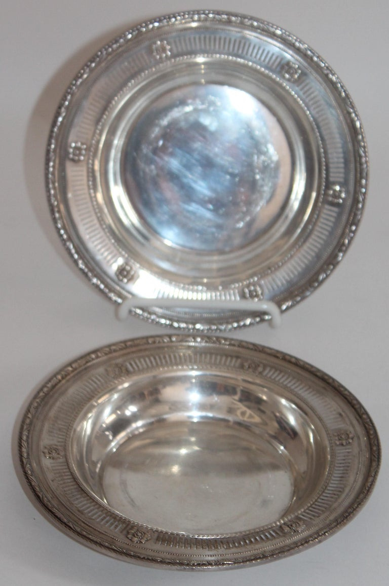 Collection of Nine Silver Sterling Serving Dishes and Bowls For Sale 2