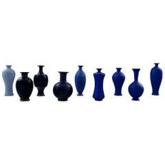 Collection of Nine Unique Miniature Ceramic Vases by Per Liljegren