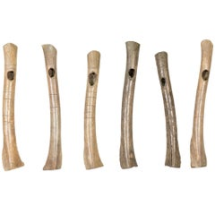Collection of Northern Plains Prehistoric Wing Bone Whistles
