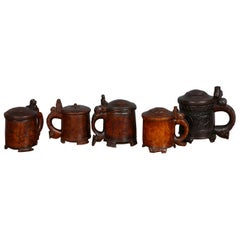 Collection of Norwegian Peg Tankards