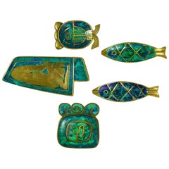 Collection of Pepe Mendoza Enameled Bronze Accessories