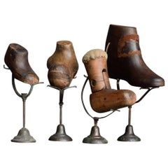 Collection of Rare Early 20th Century Mounted Medical Shoe Last Forms