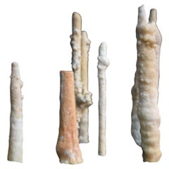 Collection of Rare Shaped Natural History Museum Stalagmite Forms