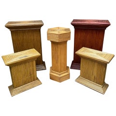 Collection of Rattan Pedestals