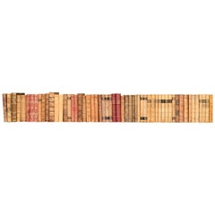 Collection of Scandinavian Antique Leather-Bound Books