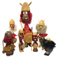 Collection of Seven Danish Vikings by Hans Bolling and Bojesen