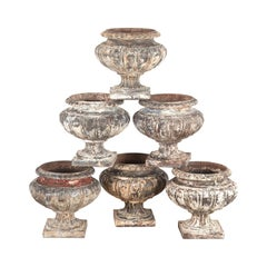 Collection of Six 19th Century Pumpkin Urns