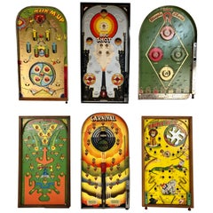 Collection of Six Antique Game Boards, circa 1930-1950
